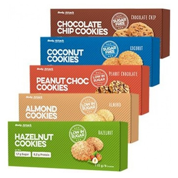 Body Attack Cookies (115g) Hazelnut