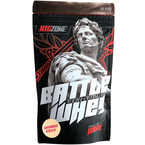 Big Zone Battle Whey - 1000g Grießbrei- Kirsch
