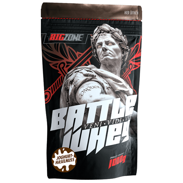 Big Zone Battle Whey - 1000g Joghurt Haselnuss