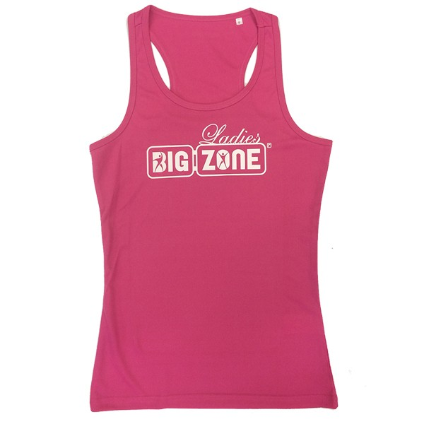 Big Zone Lady Tanktop Active-Dry - Rosa/Weiß