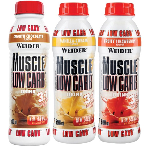 Weider Muscle Low Carb Drink (500ml) Vanilla