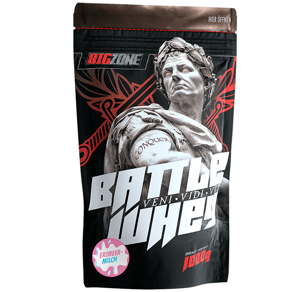 Big Zone Battle Whey - 1000g Erdbeer-Milch