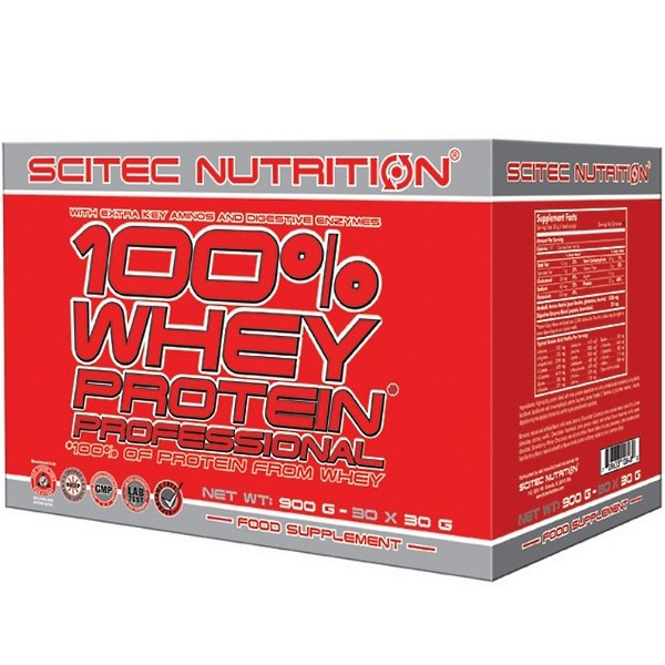 Scitec Nutrition 100% Whey Protein Professional (30x30g) 900g