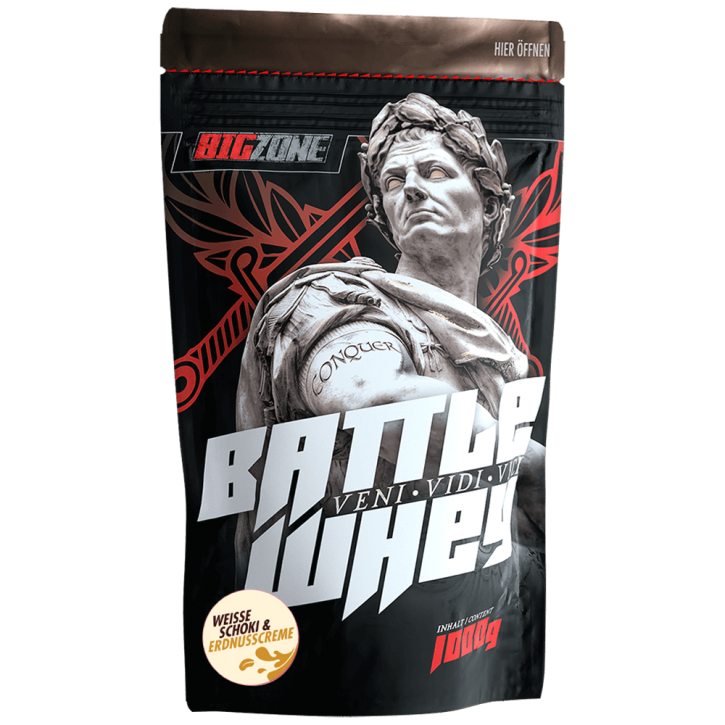Big Zone Battle Whey - 1000g Weisse Schoki & Erdnusscreme
