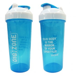 Big Zone Protein Shaker (700ml) Blau-Weiß
